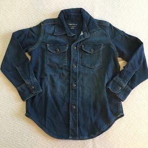 New Gap Kids Denim Shirt XS 4 / 5 Super Soft Jean